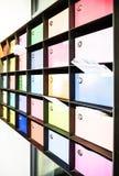 Caixas de letra foto de stock