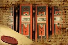 Caixas de letra arquivísticas vitorianos Imagem de Stock Royalty Free