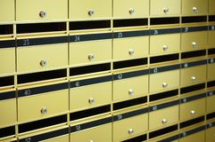 Caixas de letra do apartamento Fotografia de Stock