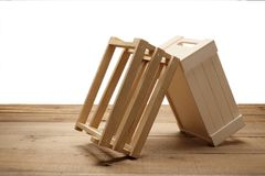 Caixas de madeira Imagem de Stock