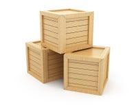 Caixas de madeira Foto de Stock Royalty Free