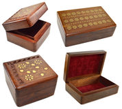 Caixas de madeira Fotografia de Stock Royalty Free