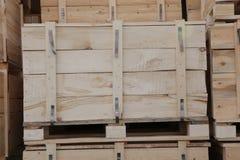 Caixas de madeira Fotos de Stock