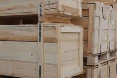 Caixas de madeira Fotos de Stock Royalty Free