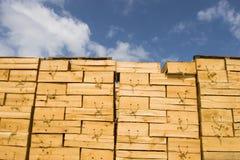 Caixas de madeira Imagens de Stock