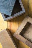 Caixas de madeira Imagem de Stock Royalty Free
