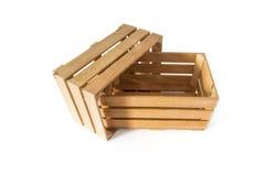 Caixas de madeira Imagens de Stock Royalty Free