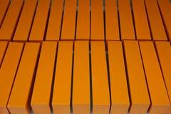 Caixas de madeira alaranjadas Imagens de Stock Royalty Free