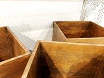Caixas de madeira bonitas sem uma tampa com uma parte superior aberta Ofícios de madeira Fotos de Stock Royalty Free