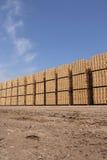 Caixas de madeira da embalagem Fotografia de Stock