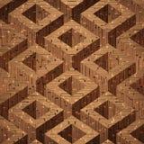 Caixas de madeira do parquet empilhadas Fotos de Stock
