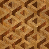 Caixas de madeira do parquet empilhadas para o fundo sem emenda Fotografia de Stock