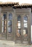 Caixas de madeira do telefone Foto de Stock