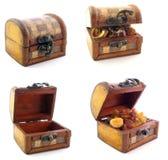 Caixas de madeira no jogo Foto de Stock Royalty Free