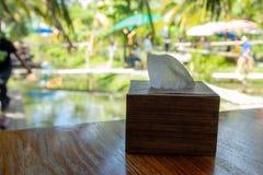 Caixas de madeira para tecidos foto de stock