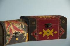 Caixas de madeira pintadas ilustração royalty free