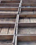 Caixas de madeira vazias Fotografia de Stock Royalty Free