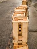 Caixas de madeira vazias foto de stock