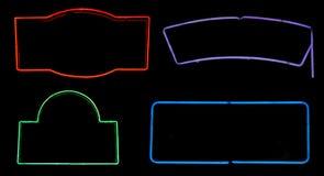 Caixas de néon Fotografia de Stock