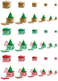 Caixas de Natal Fotos de Stock