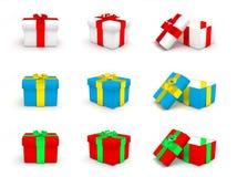 Caixas de Natal Imagem de Stock