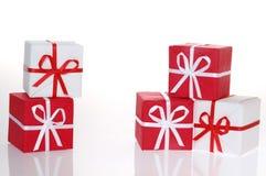 Caixas de Natal Fotografia de Stock Royalty Free