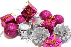 Caixas de Natal com presentes Foto de Stock