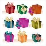 Caixas de Natal - vetor ilustração stock