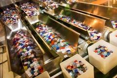 Caixas de plásticos coloridas Fotos de Stock Royalty Free