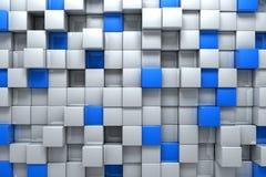 Caixas de prata e azuis ilustração stock
