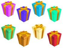 Caixas de presente Fotografia de Stock Royalty Free
