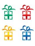 Caixas de presente ilustração royalty free