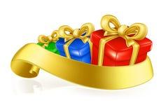 Caixas de presente Imagens de Stock Royalty Free