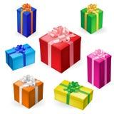 Caixas de presente Foto de Stock Royalty Free