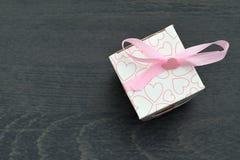 Caixas de presente brancas pequenas Fotos de Stock Royalty Free