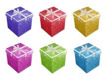 Caixas de presente coloridas foto de stock