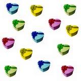 Caixas de presente coloridas como o fundo do feriado Fotografia de Stock Royalty Free