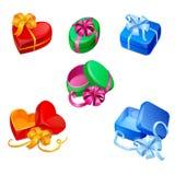 Caixas de presente coloridas do vetor Fotos de Stock