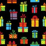 Caixas de presente coloridas estilizados Grupo desenhado à mão Ilustração do vetor ilustração do vetor