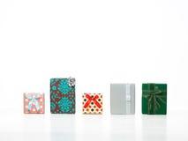 Caixas de presente coloridas para a celebração Foto de Stock Royalty Free