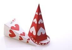 Caixas de presente com corações Foto de Stock