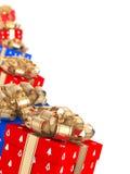 Caixas de presente do Natal Foto de Stock Royalty Free