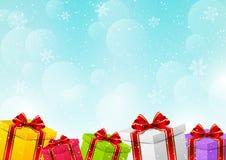 Caixas de presente do Natal ilustração stock