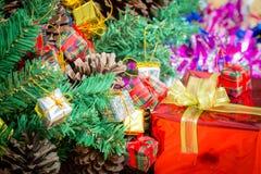 Caixas de presente do Natal Imagem de Stock Royalty Free