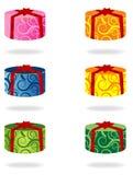 Caixas de presente do ornamento ilustração do vetor
