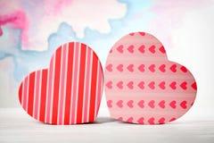 Caixas de presente Heart-shaped fotos de stock royalty free