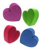 Caixas de presente Heart-shaped imagens de stock