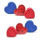 Caixas de presente Heart-shaped imagens de stock royalty free