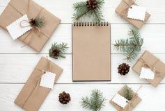 Caixas de presente no branco Foto de Stock