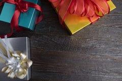 Caixas de presente no fundo branco Imagem de Stock Royalty Free
